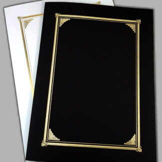 Gold Embossed Certificate Folders